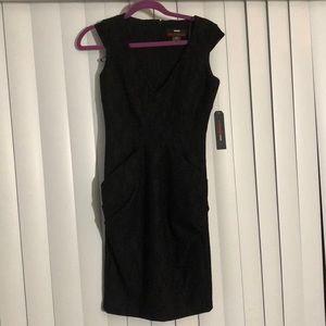 MISS SIXTY Lace Overlay Little Black Dress Sz 2